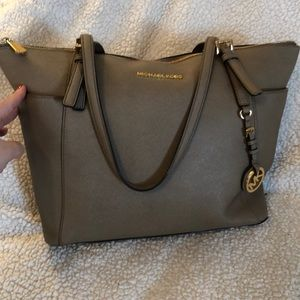 Michael Kors top zip dark Dune tote